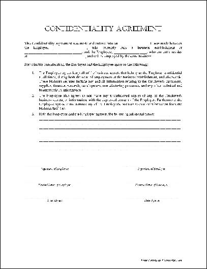 Confidentiality Agreement""