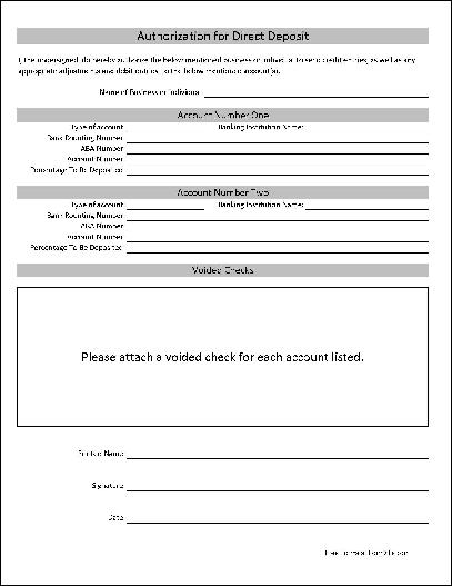direct deposit authorization form template - anuvrat.info