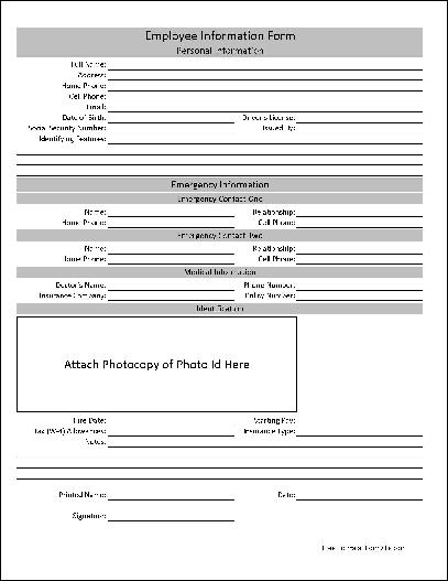 employee information form pdf delo yogawithjo co