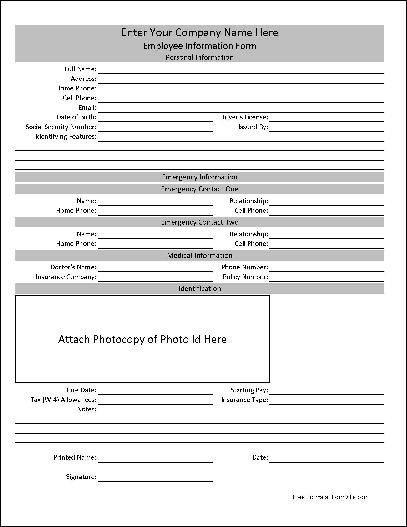 employee records forms