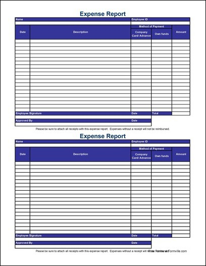 Expense Report Form Expense Report Approval Web Based Expense