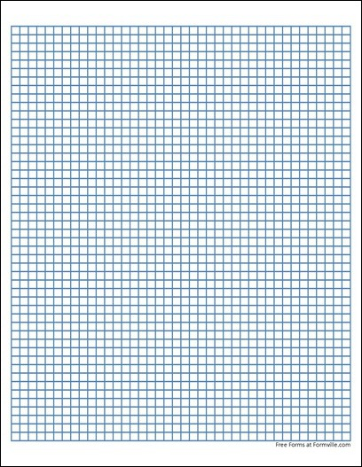 Free Graph Paper 5 Squares per Inch Heavy Blue from Formville – Download Graph Paper for Word