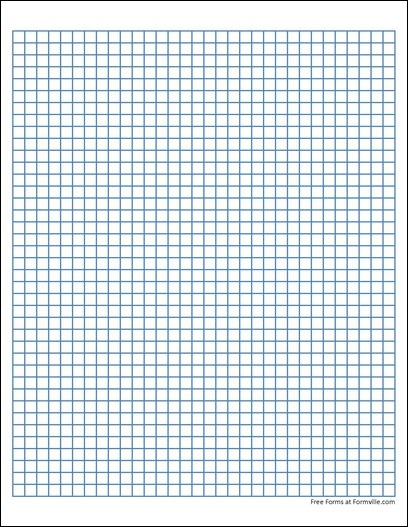 Large Square Graph Paper Template