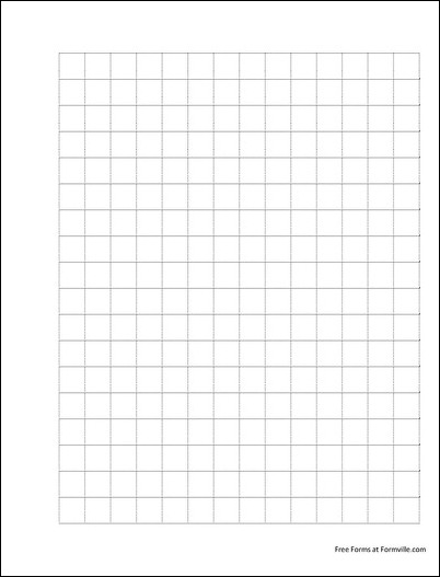 free punchable graph paper  2 squares per inch dashed