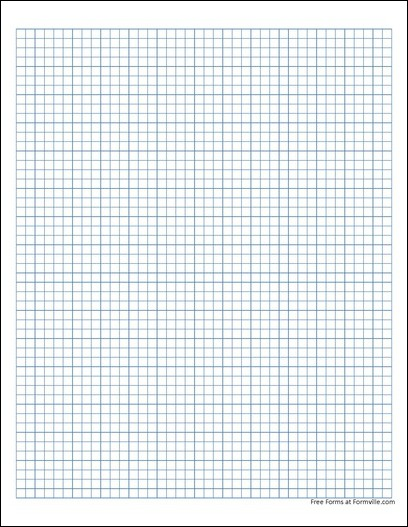 Free Graph Paper 5 Millimeter Solid Blue from Formville – Ms Word Graph Paper
