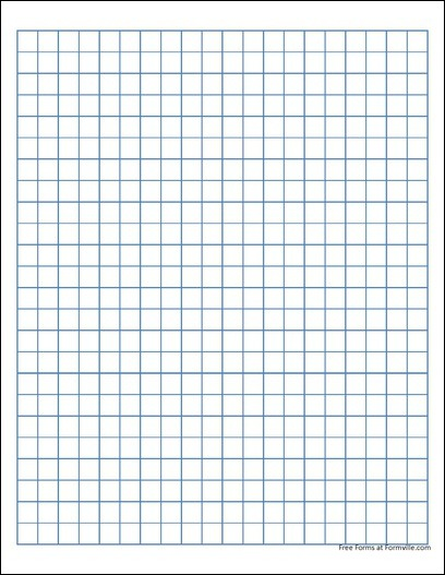 Free Quad Paper 1 Centimeter Blue from Formville – Ms Word Graph Paper