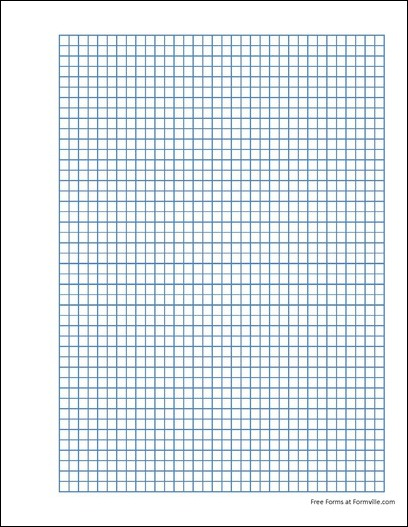 free punchable quad paper  5 squares per inch blue  from