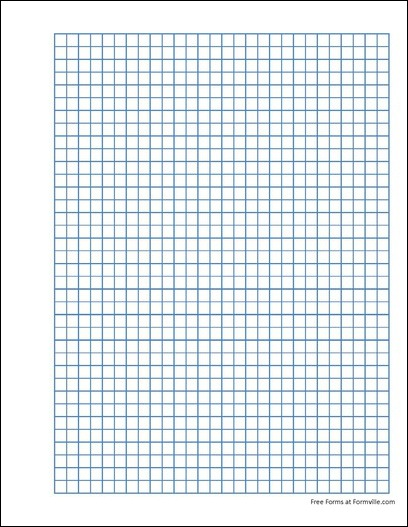 free punchable quad paper 4 squares per inch blue from formville