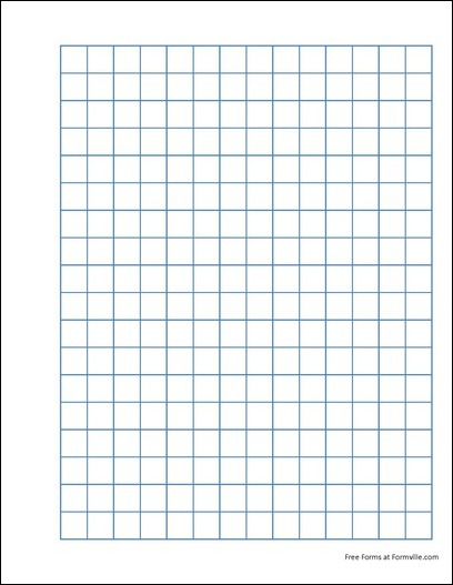 free punchable quad paper 2 squares per inch blue from formville