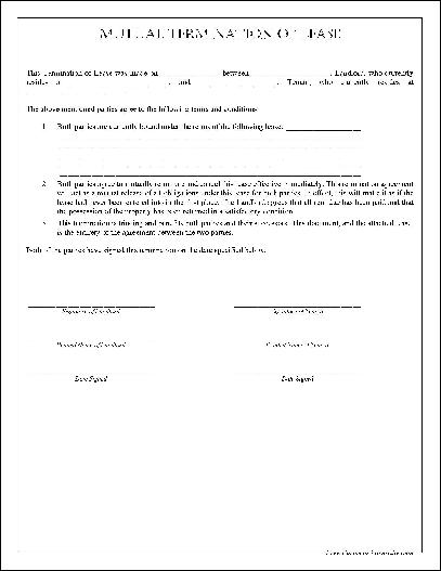 Free Simple Mutual Termination of Lease from Formville – Lease Termination Form