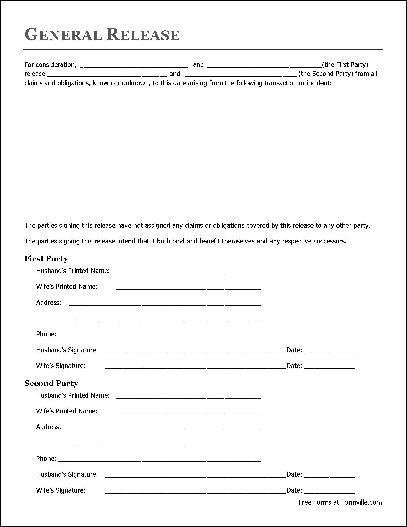 Free Basic Release Form (Husband And Wife To Husband And Wife