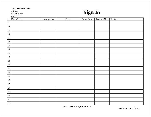 Free Easy-Copy Detailed Company Sign In Sheet with Signatures ...