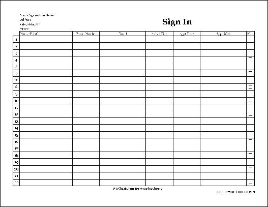 image relating to Customer Sign in Sheet named Absolutely free Basic-Reproduction Comprehensive Business enterprise Appointment Indicator Within just Sheet