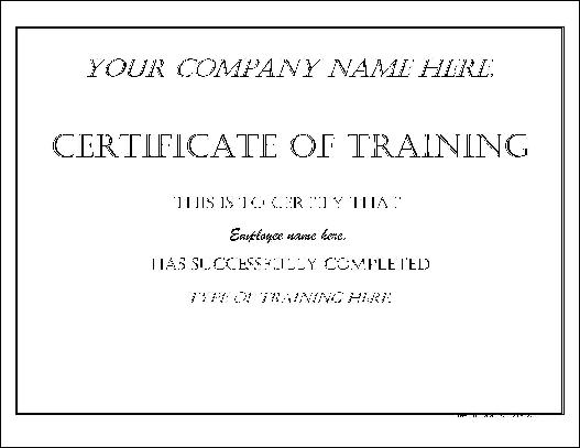 Free basic impressive training certificate from formville for Basic certificate template