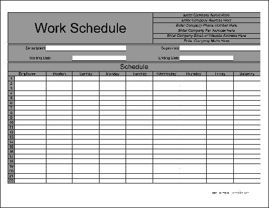 blank monthly employee schedule form pictures to pin on pinterest pinsdaddy. Black Bedroom Furniture Sets. Home Design Ideas
