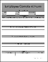 Fancy Wide Numbered Row Employee Complaint Form