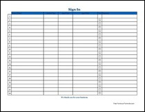 Free Sign-in Sheets from Formville